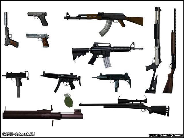 Как сделать все оружие в gta